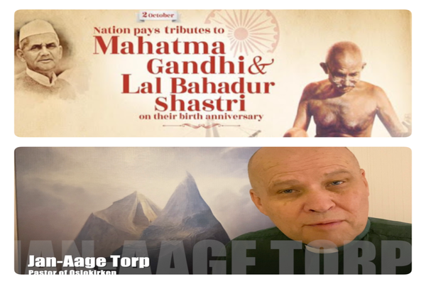 India´s National «Doordarshan» TV conveys our Tribute to Mahatma Gandhi