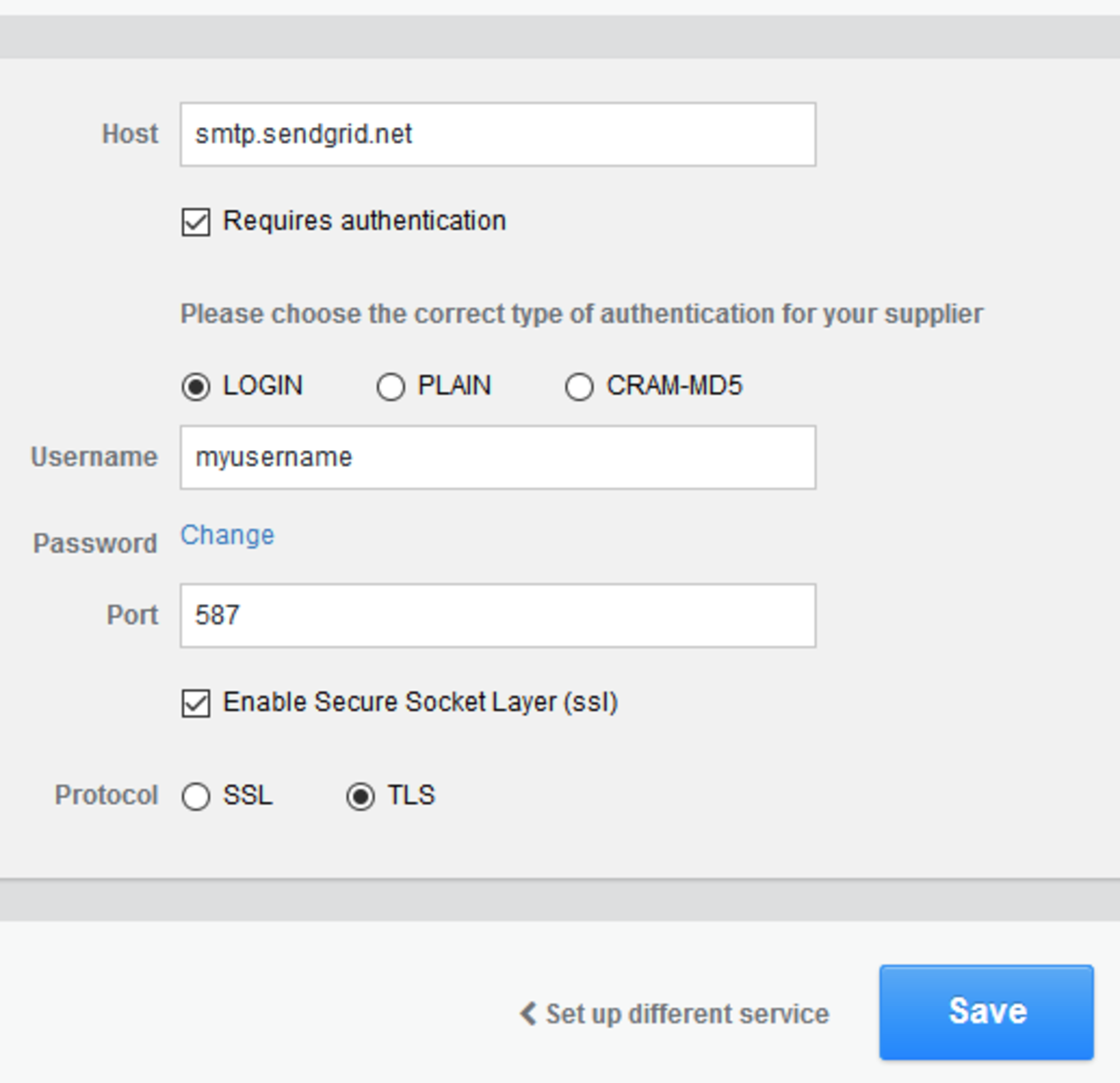 How to set up Cornerstone for sending of email through sendgrid