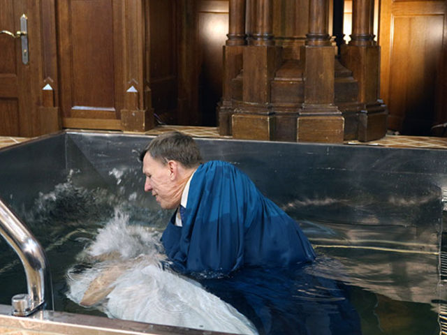 Photo report - Baptism at Moscow's Central Baptist Church