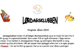 Program for våren 2019
