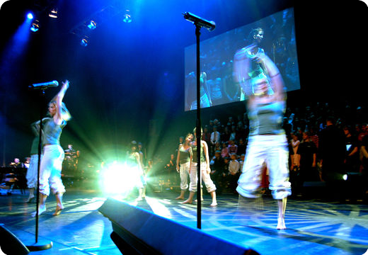Dancers on stage during Glory