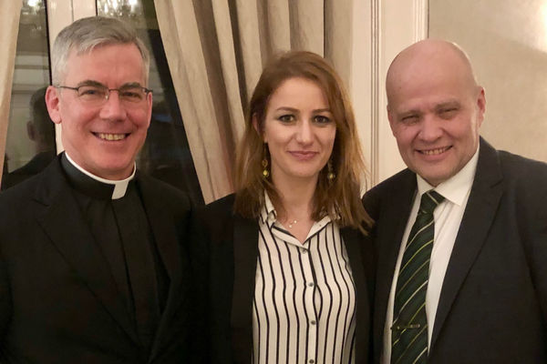 Met in Tirana with Deputy Justice Minister and the Pope´s Anuncio