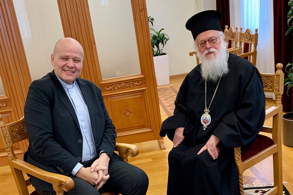 Personal Meeting in Tirana with Patriarch Anastasios of the Albanian Orthodox Church