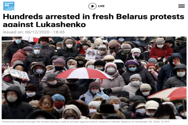 Mass Protests against Election Fraud in Belarus and USA should be supported by Mainstream Leaders and Media